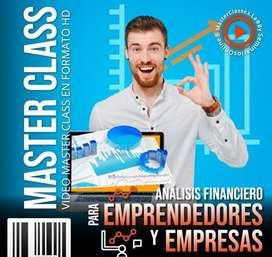 CURSO MasterClass ANALISIS FINANCIERO PARA EMPRENDEDORES Y EMPRESAS