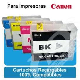 Cartuchos Recargables Canon Maxify Mb5310 Mb5410 Ib4010 Pgi2100