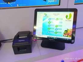 Sistema pos punto de venta con pantalla tactil industrial.