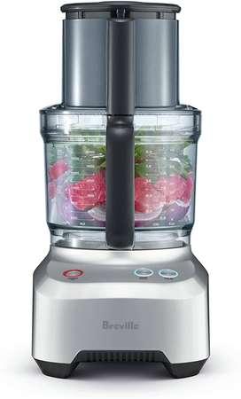 Procesador de alimentos (12 tazas), color plateado