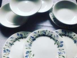 4 platos pandos + 4 platos hondos