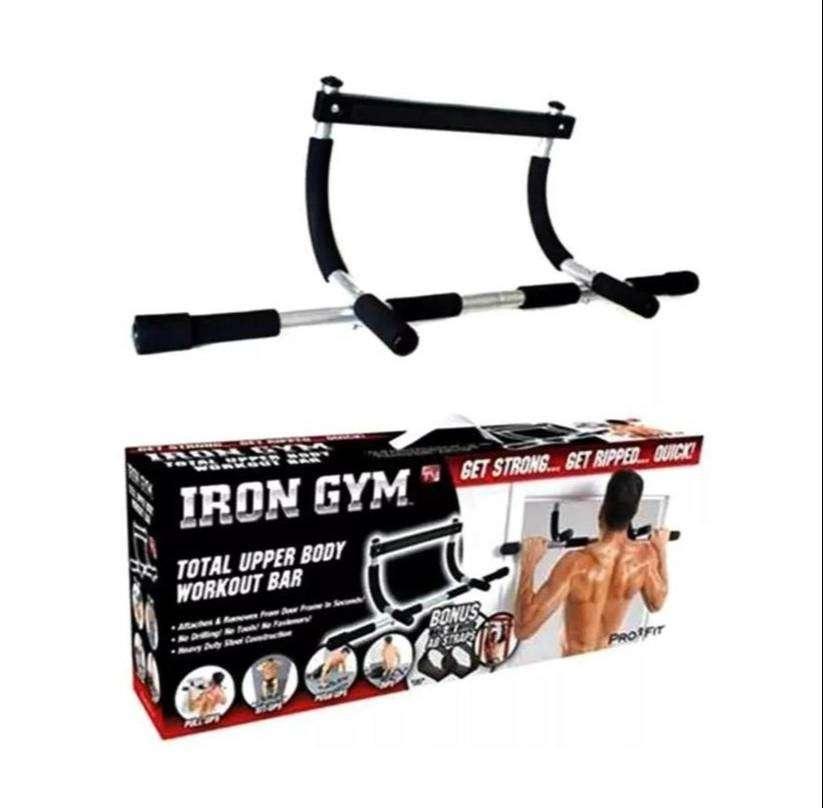 Gratis Envio Barra De Ejercicios Para Puerta Iron Gym Multifuncional