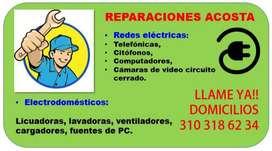 REPARACIÓN ELÉCTRICOS - DOMICILIO