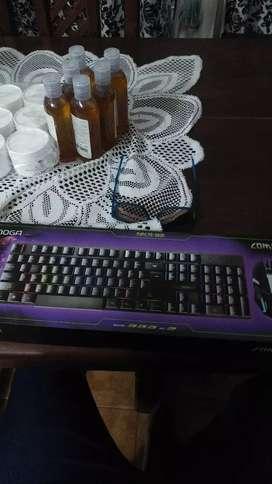 Combo gamer teclado con luces y mouse