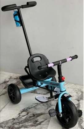 Triciclo ligero para niños 1-3 años|Estructura metálica cinturón de seguridad|Sillita de empuje y triciclo con pedales