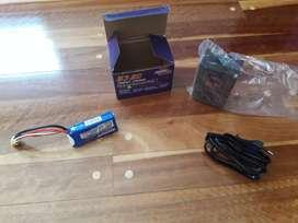 Vendo bateria para radio control con cargador nueva