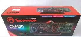 Kit Marvo Scorpion 4 en 1 CM409 Teclado RGB + Mouse + Auriculares + Mouse Pad