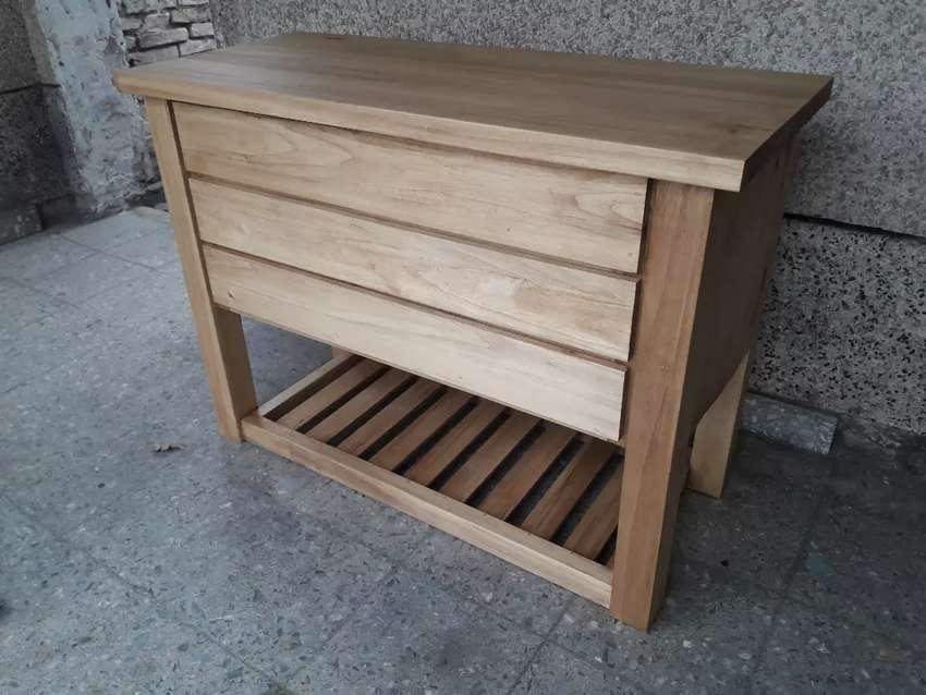 Vanitory en madera de alamo 0