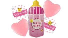Globos Metalizados Baby Shower Niña X5