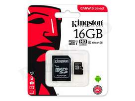 Tarjeta de Memoria Micro Sd 16gb Kingston Clase 10 Original Android HD FHD