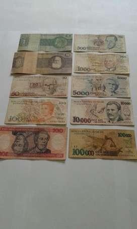 Lote Brasil Diez Billetes Antiguos Surti