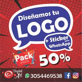 Oferta Diseño de Logo  Sticker para WhatsApp