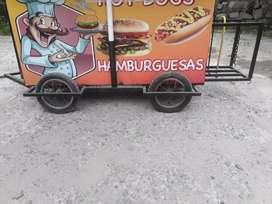 Vendo carro para vender hot dogs y hamburgesas