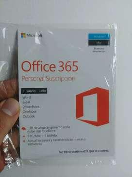 Licencia office 365 1 año original-tarjeta fisica
