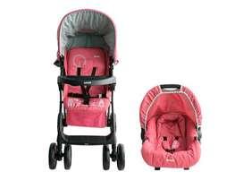 Coche bebé Travel System Kei, Rosado, Infanti