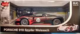 Auto Porsche 918 Spyder Radio Control Rastar 1:14 pilas de regalo