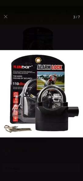 Candado con alarma ideal para motos bici etc