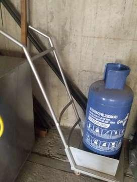 Carreta para pipa de gas