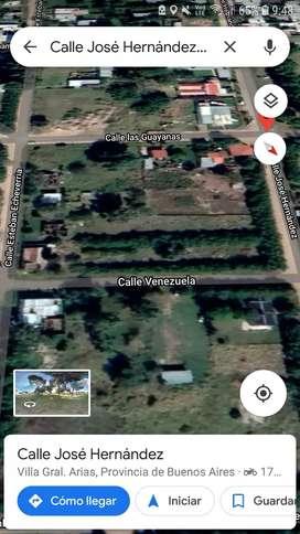 Vendo terreno villa Arias