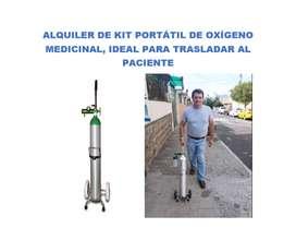 ALQUILER DE KIT PORTATIL DE OXIGENO MEDICINAL DE 1M3, ALQUILER DE OXÍGENO MEDICINAL