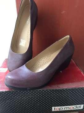 Zapatos d' cuero mujer