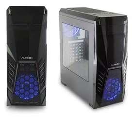 GABINETE PC GAMER ATX 2 COOLER FAN LED 12CM USB 3.0 AUREOX EUPHORY SIN FUENTE ENVÍO GRATIS