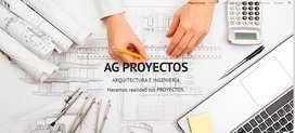 Planos, anteproyectos, Proyectos, Regularizacionnes y Cálculo