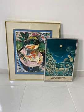 Poster / Cartel de obras de arte de galerías de los años 80's