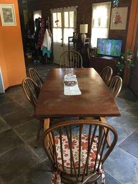 Mesa rectangular mas sillas