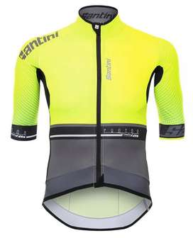 Camisa ciclismo calidad elite santini verde