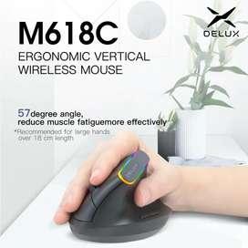 # Mouse ergonómico recargable Delux Ref. Mj-0082