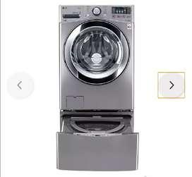 Lavadora secadora LG 20 kg con twinwash mini 3.5 kl