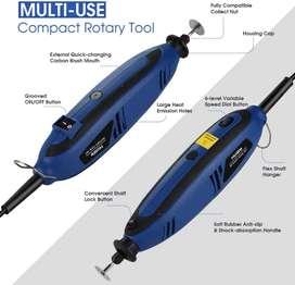 mototool holife - Kit de herramientas giratorias con eje flexible de velocidad variable, 4 accesorios, 116 accesorios