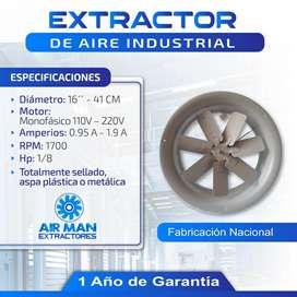 EXTRACTOR DE AIRE INDUSTRIAL 16 PULGADAS