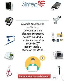 Mantemientos preventivos y correctivos de equipamiento médico, venta de respiradores.