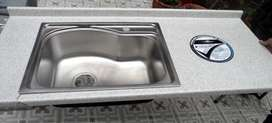 Mesón con lavaplatos (Sin estrenar)