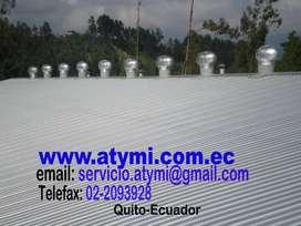 Equipos extractores eolicos Quito-Ecuador