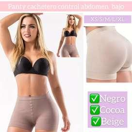 Panty short cachetero control abdomen bajo