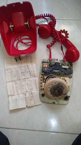 Teléfono antiguo de disco
