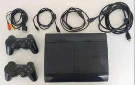 Playstation 3 Mod Cech-4201c 500gb + 2 Joystick + Cables