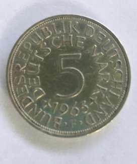 Moneda 5 DEUTSCHE MARK 1965 F Germany