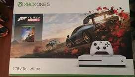Xbox one s 1TB 1 control, fifa 20, cod mw, halo tmcc, gta v