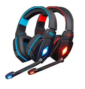 Audifonos Diadema Gamer G4000 Con Microfono Y Luz Led
