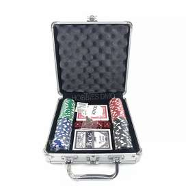 Set de poker con maleta de lujo juego de mesa