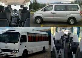 Capacidad en transporte de 14, 16 y 25 pasajeros según la necesidad.
