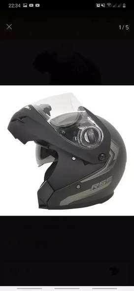 Casco Moto Hawk Rs5 Vector Rebatible Negro Mate Doble Visor