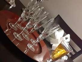 OPORTUNIDAD! Juego de copas talladas (p/ jerez)