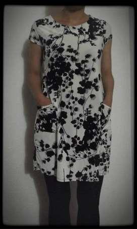 vestido flores blanco