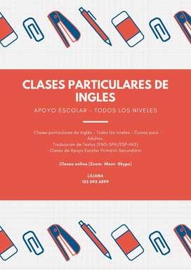 Ingles - Clases Particulares Online - Todos Los Niveles