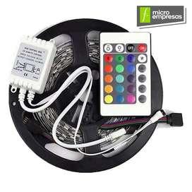 Multicolores Colores Cinta Led Rgb X 10 Mts 110v Con Control